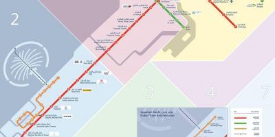 مترو دبي خريطة خريطة مترو دبي الإمارات العربية المتحدة